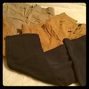 Boys Lot Size 7 Pants Kakis Elastic